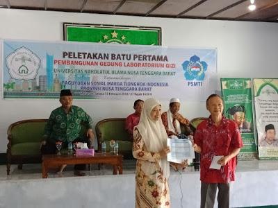 PSMTI NTB Bantu Pembangunan Laboratorium Gizi UNU NTB