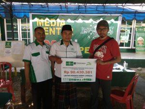 Karyawan Muslim PT.Freeport Kembali Sumbang Korban Gempa 57 Juta Melalui LAZISNU NTB