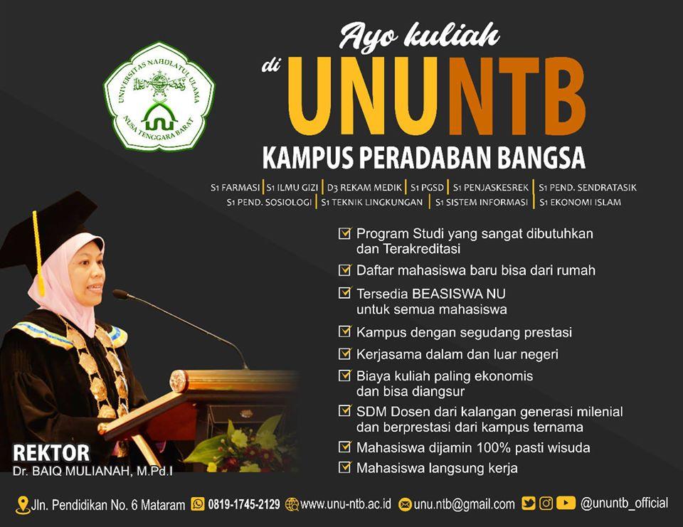 Yuk Kuliah, Universitas Nahdlatul Ulama NTB biaya terjangkau
