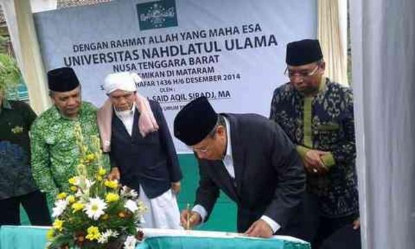 Peresmian Kampus Universitas Nahdlatul Ulama NTB oleh Ketua PBNU