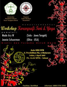 Workshop Koreografi Tari dan Yoga