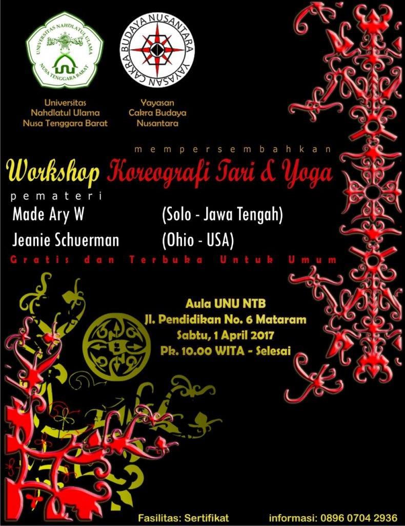 Workshop Koreografi Tari dan Yoga