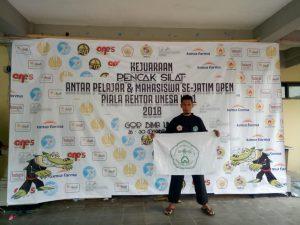 Abu Jihad, Mahasiswa Fakultas Pendidikan Program Studi Penjaskesrek Meraih Gelar Juara 1 Pencak Silat Piala Rektor Universitas Negeri Surabaya (UNESA)