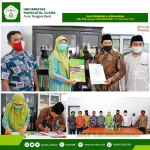 Universitas Nahdlatul Ulama – NTB kembali bekerjasama dengan salah satu kampus yang berkualitas di NTB, Universitas Nahdlatul Wathan – Mataram