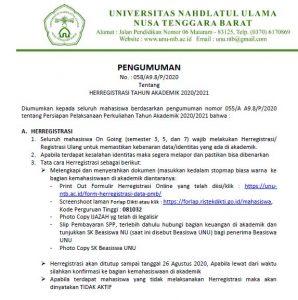 Surat Ketentuan Herregistrasi