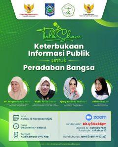 Talkshow Keterbukaan Informasi Publik untuk Peradaban Bangsa